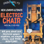Nick Lewin Ultimate Electric Chair and Paper Balls Over Head - D